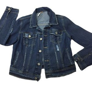 Brand- FREE PEOPLE WOMAN'S BLUE DENIM Jacket 12